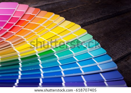 color palette guide of paint samples catalog