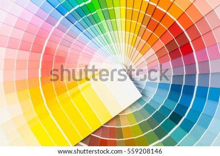 Color palette, guide of paint samples, colored catalog #559208146