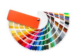 Color palette samples on white background