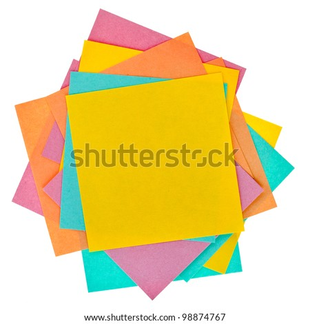 color paper  isolated on white background