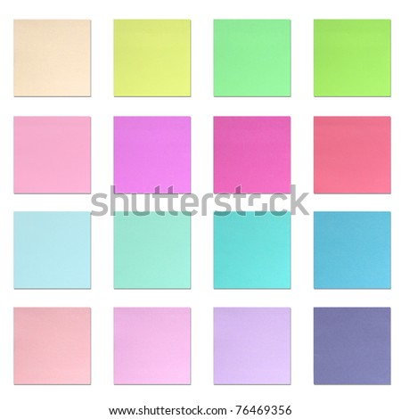 Color Paper Note Stock Photo