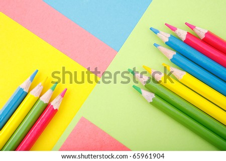 color paper with crayons