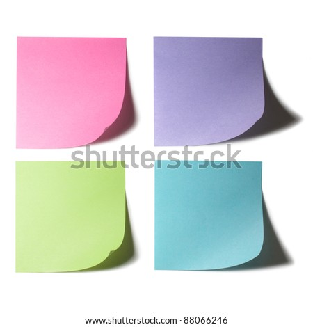 Color Papers Note Stock Photo