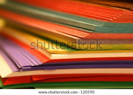 Color papers school supply - stock photo