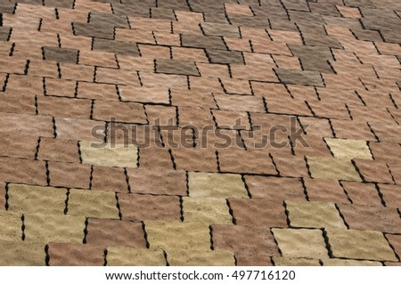 color paving slabs in the background close-up #497716120