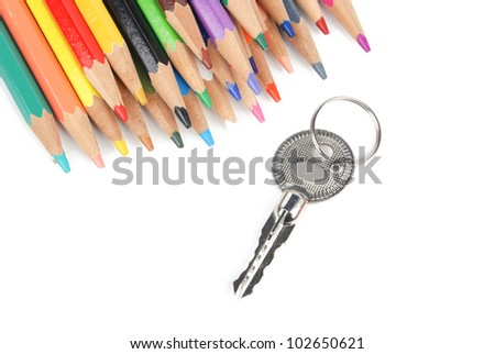 Color pencil and key