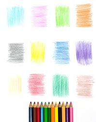 Color pencil and Set of color pencil design elements