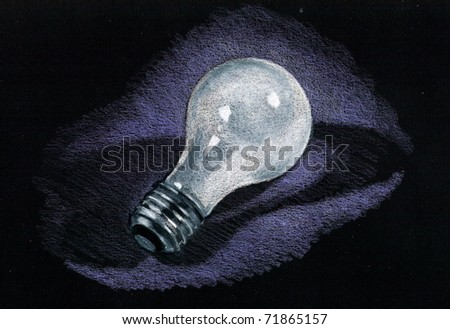 Light Bulb Drawing Color Pencil Drawing of Light