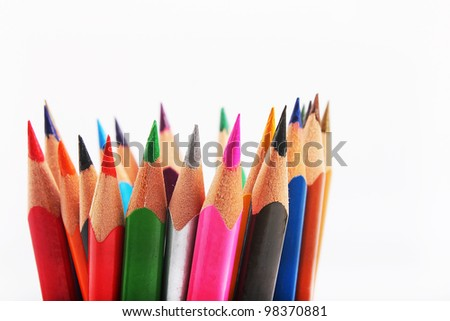 color pencil pointed up
