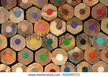 Color pencils background macro