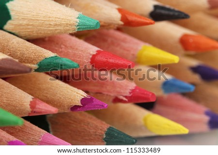 Color pencils close-up
