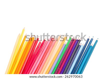Color pencils on White Isolated background #262970063