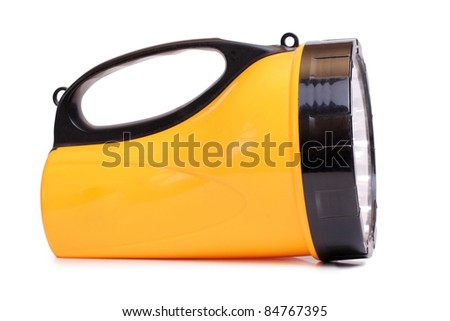 Color photo flashlight on a white background