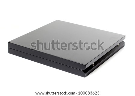 Color photo of a black wooden box