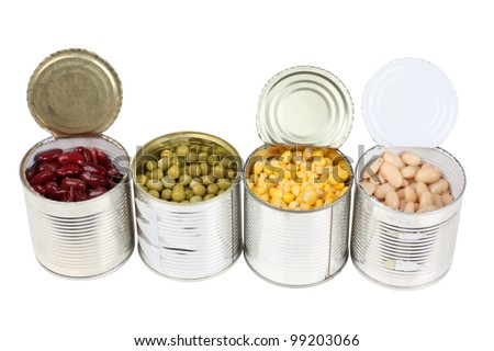 Color photo of a grain in metal tin - stock photo