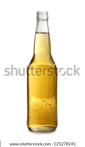 Color photo of a large beer bottle