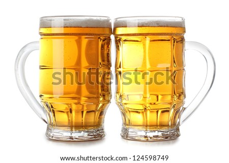 Color photo of a large beer mugs