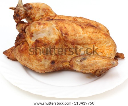 Color photo of fried chicken on a plate