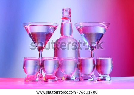 Color photo of glass with tequila shots
