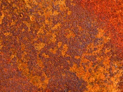 Color photo of old metal surfaces with rust and paint