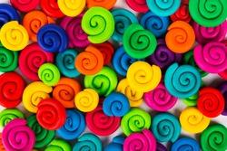 Color plasticine. Color plasticine background