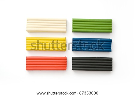 Color plasticine - isolated on white background