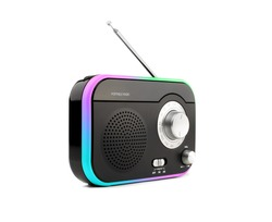 Color portable radio on white background