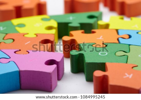color puzzle on white #1084995245
