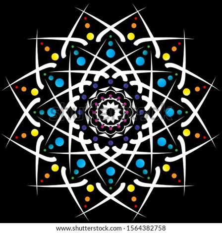 Color Rainbow in Black Pattern,Pattern,Pattern,Pattern,Pattern,