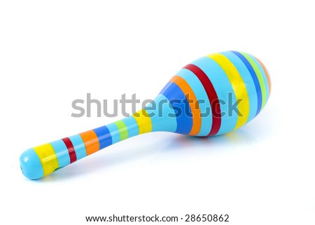 color rattle isolated over a white background
