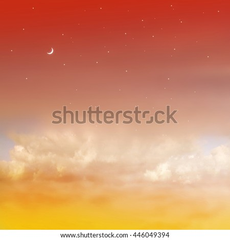 Color romantic sky background #446049394