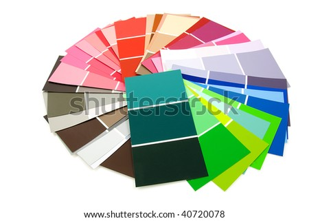 color samples for painting in circle, over white background