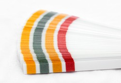 Color samples pH for Litmus strips to measurement of acidity