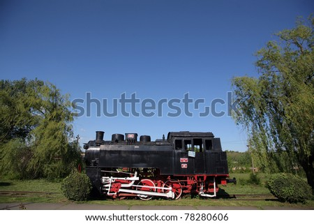 Color shot of an old steam locomotive
