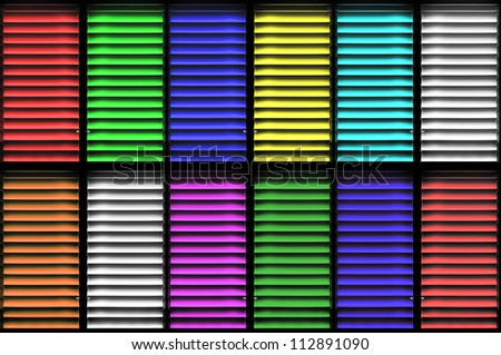 Color shutters window background