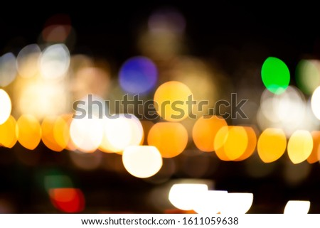 Color skyline city lights bokeh