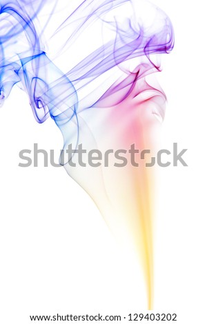 color smoke isolated on white background