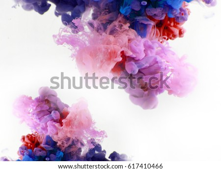 color smoke underwater. Abstract background - Shutterstock ID 617410466