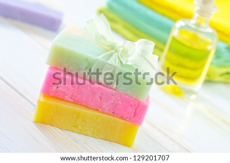 color soap