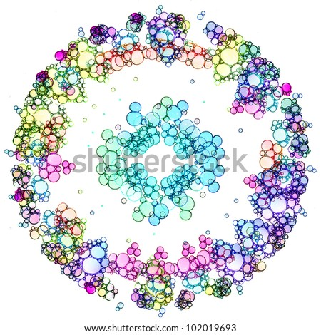 Color soap bubbles circle background