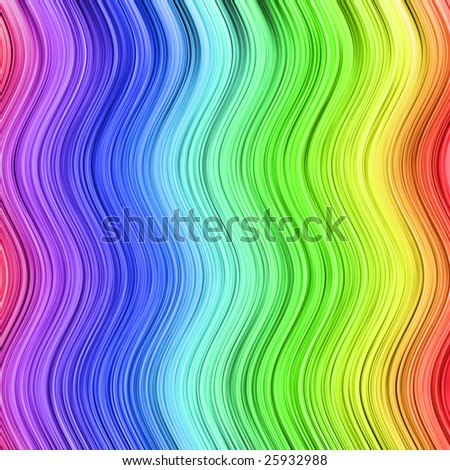 Color spectrum made by thin waved stripes. Illustration