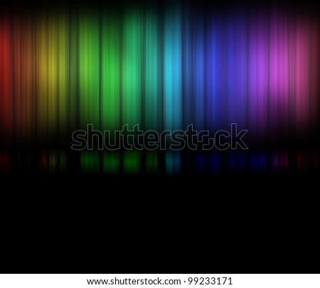 Color spectrum or Gamut of viewable colors frequencies