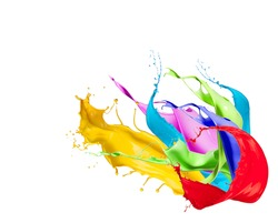 Color splash isolated on white background.