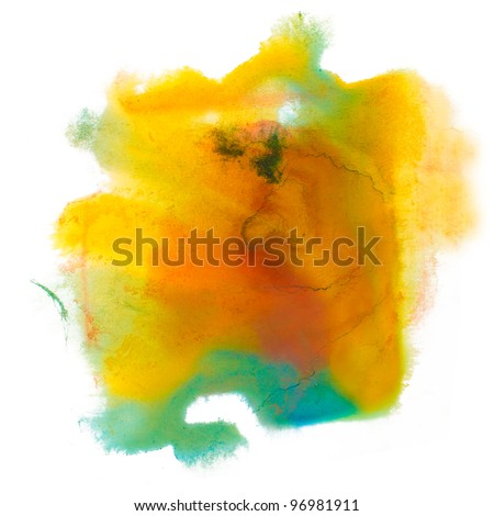 color spot green yellow brown macro blotch texture isolated white background