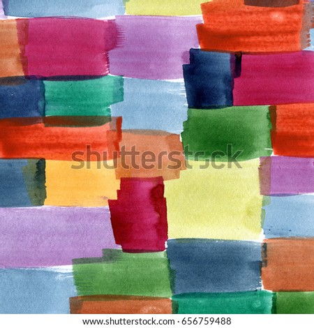 Color spotted hand-drawn background. Patchwork style pattern.