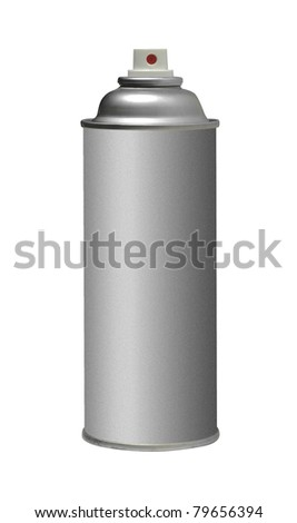 color spray can isolate on white background