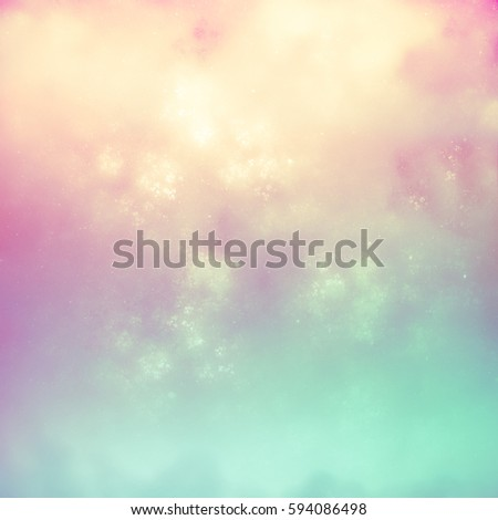 Color spring background. Green and pink background. Harmonious blurred background. It creates a holiday mood, joy, fresh tropical breez
