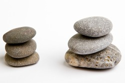 Color stones (zen) isolated on white background. Include clipping path.