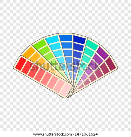Color swatch icon. Cartoon illustration of color swatch icon for web design