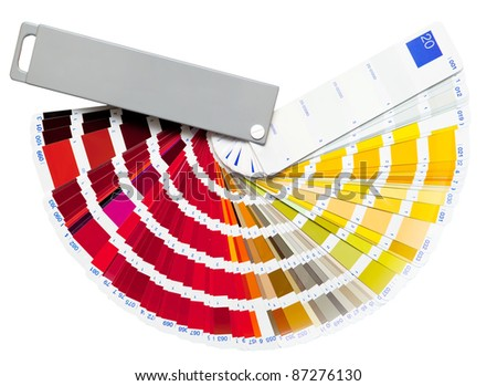 color swatch isolated on white